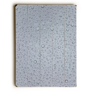 Drops - Grey  Planked Wood Wall Decor by OBC