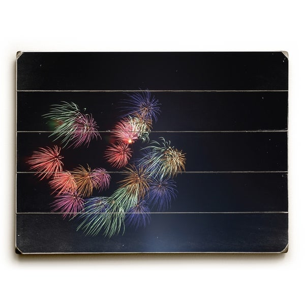 Fireworks - Multi Planked Wood Wall Decor by OBC