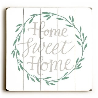 Home Sweet Home - White  Planked Wood Wall Decor by OBC