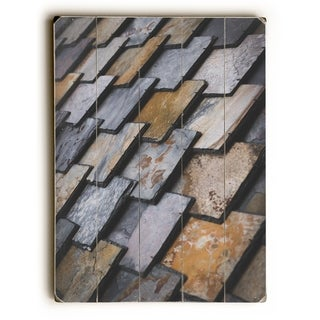 Slate - Multi  Planked Wood Wall Decor by OBC