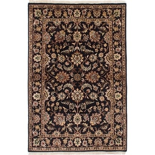 eCarpetGallery  Hand-knotted Jamshidpour Black Wool Rug - 4'0 x 6'0