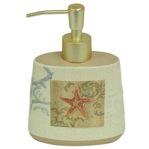 Ocean soap dispenser by Bacova - Beige