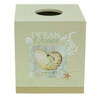 Ocean tissue box cover by Bacova