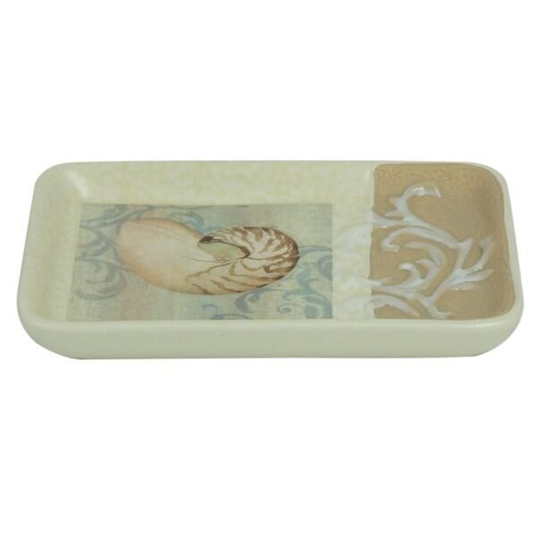 Shop Ocean Soap Dish By Bacova Beige Free Shipping On