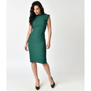 Unique Vintage Emerald Laverne Wiggle Dress (More options available)