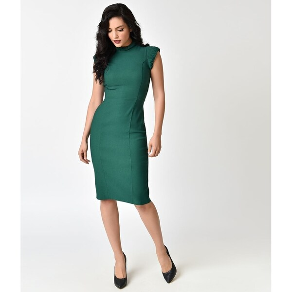 a586b382c8db Shop Unique Vintage Emerald Laverne Wiggle Dress - Free Shipping ...