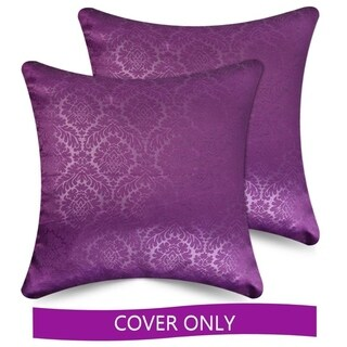 Ample Decor Solid Color Decorative Accent Pillow Covers Case Textured, Set of 2