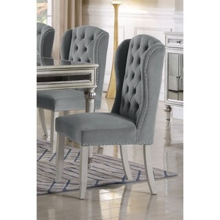 Best Master Furniture Wingback Side Chair (Set of 2)