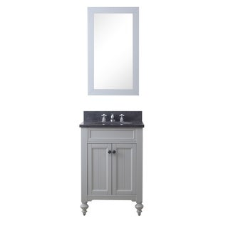 24 Inch Earl Grey Single Sink Bathroom Vanity From The Potenza Collection (vanity with 1 mirror)