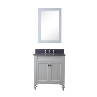 30 Inch Earl Grey Single Sink Bathroom Vanity From The Potenza Collection (vanity with 1 mirror)