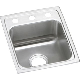 """Elkay Lustertone Stainless Steel 15"""" x 17-1/2"""" x 6-1/2"""", Single Bowl Top Mount ADA Sink"""