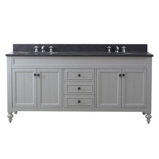 72 Inch Earl Grey Double Sink Bathroom Vanity From The Potenza Collection