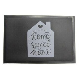 Evideco Indoor Printed Door Mat Home Sweet Home PVC Polyester Rug 24x16 Inch
