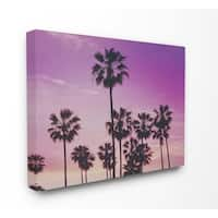 The Stupell Home Decor Collection Tropical Purple Palm trees Photography, Canvas, 16 x 1.5 x 20, Made in USA - Multi-color