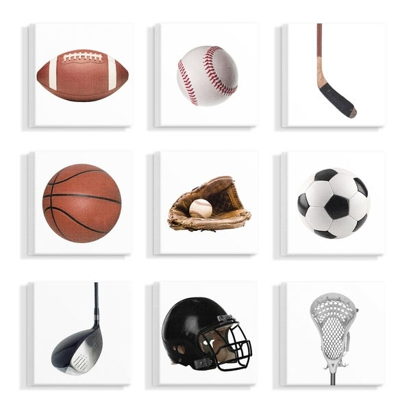 Shop The Stupell Home Decor Collection Sports Equipment On White