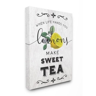 The Stupell Home Decor Collection Life Hands Lemons Make Sweet Tea Southern Typography, Canvas, 16 x 1.5 x 20, Made in USA