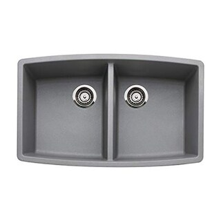 Blanco Performa Equal Double Undermount 440072 Metallic Gray