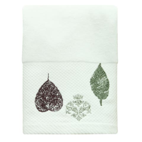 Seville hand towel by Bacova - White
