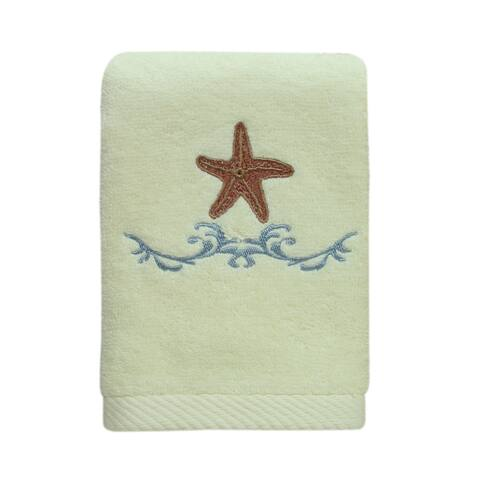 Ocean fingertip towel by Bacova - Beige