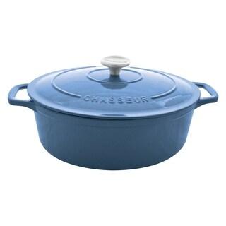 Enamel Cast Iron Dutch Oven, Blue, 4Qts