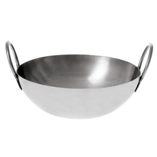 Stainless Steel Balti Pan, 10in