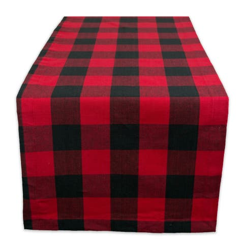 DII Buffalo Check Table Runner