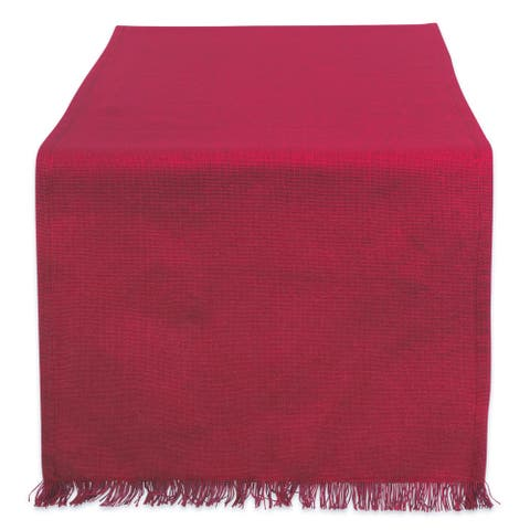 DII Fringed Solid Table Runner (0.25 inches high x 14 inches wide x 72 inches deep)