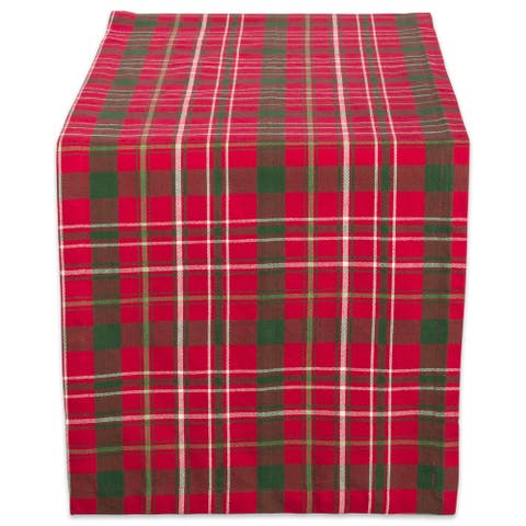 Design Imports Tartan Holly Plaid Table Runner (0.25 inches high x 14 inches wide x 108 inches deep)