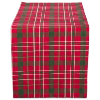 "Design Imports Tartan Holly Plaid Table Runner (0.25 inches high x 14 inches wide x 108 inches deep) - 108""x14"""