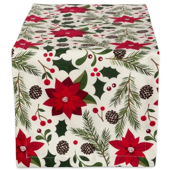Design Imports Woodland Christmas Table Runner (0.25 Inches High X 14 Inches  Wide X 108