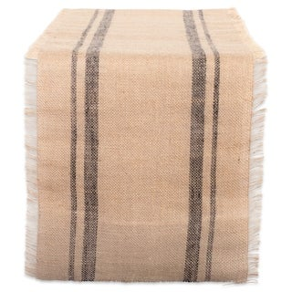 Design Imports Jute Burlap Double Border Table Runner (0.25 inches high x 14 inches wide x 72 inches deep)