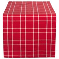 """Design Imports Holly Berry Plaid Table Runner (0.25 inches high x 14 inches wide x 72 inches deep) - 72""""x14"""""""
