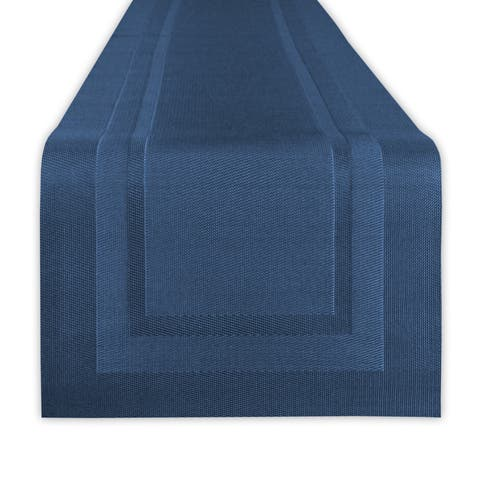 "Design Imports PVC Doubleframe Table Runner (0.25 inches high x 14 inches wide x 72 inches deep) - 72""x14"""
