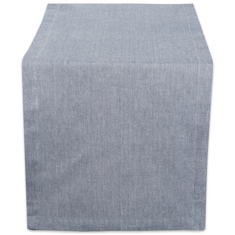 Design Imports Solid Chambray Table Runner (0.25 inches high x 14 inches wide x 72 inches deep)