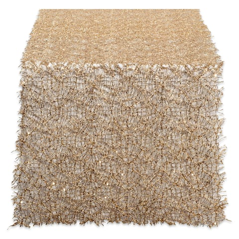 "Design Imports Sequin Mesh Roll Table Runner (0.25 inches high x 16 inches wide x 120 inches deep) - 120""x16"""
