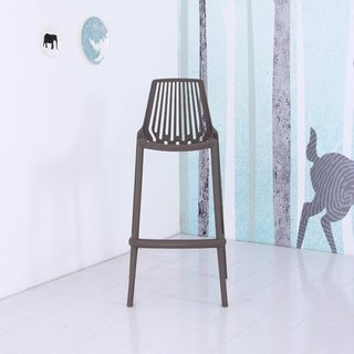 Jay Plastic Bar Chair (Grey)