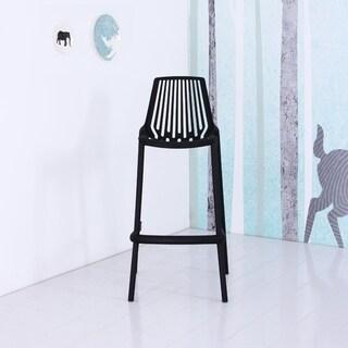 Jay Plastic Bar Chair (Black)