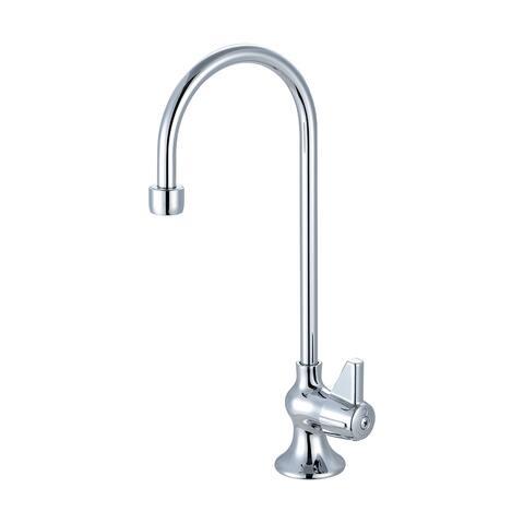 """Central Brass Single Handle Bar Faucet, 4-11/16"""" Gooseneck Rigid Spout, 80286-AC - CHROME"""