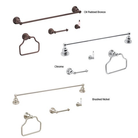 Fontaine Bathroom Towel Bar & Ring Accessory Set