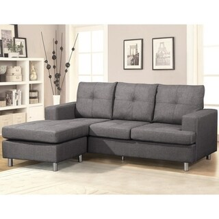Fancy Reversible Sectional Sofa (Grey)