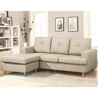 Fancy Reversible Sectional Sofa (Beige)