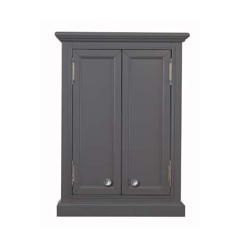 Derby Collection Wall Cabinet In Cashmere Grey