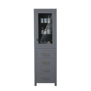 Water Creation Madison Collection Cashmere Grey Wood Linen Cabinet