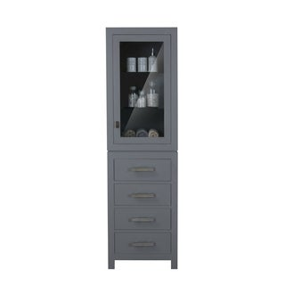 Madison Collection Linen Cabinet In Cashmere Grey