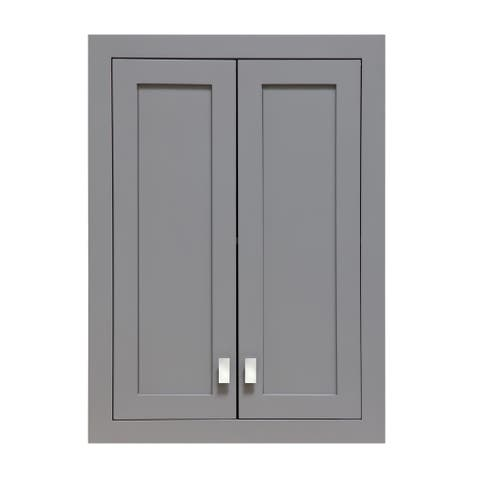 Water Creation Madison Collection Cashmere Grey Wood Wall Cabinet