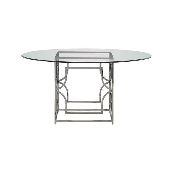 Best Master Furniture 60 Inch Round Glass Dining Table Overstock 22381502