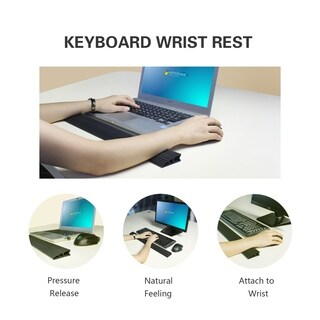 Rxmoo Keyboard and Mouse Wrist Rest Pad for Easy Typing - Black