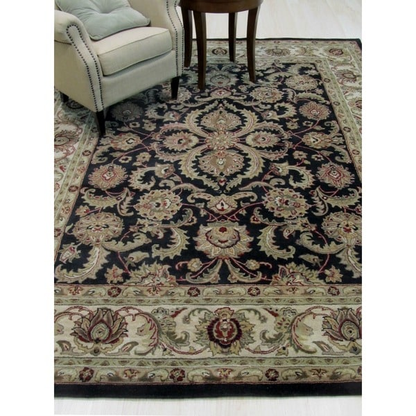 Hand-tufted Wool Black Traditional Persian Rug - 8' x 10'