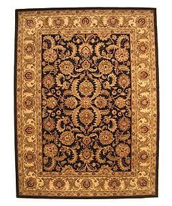 EORC Hand-tufted WoolBlack Nikka Rug (7'9 x 9'9)