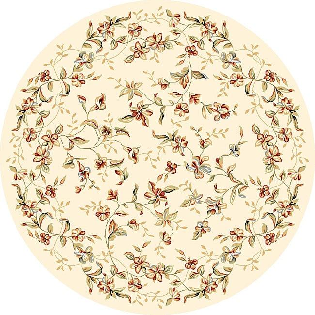 Safavieh Lyndhurst Traditional Floral Beige Rug (8' Round)